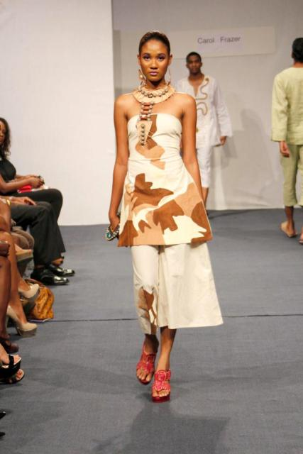 Guyanese designer Carol Fraser's 'Organic Orgasm' collection.
